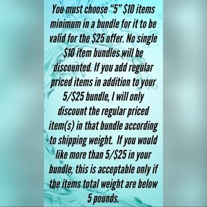 Other - 5/$25 SALE!!